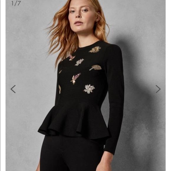 13928031d2570 Ted baker Tynna Embellished Sweater sz UK0